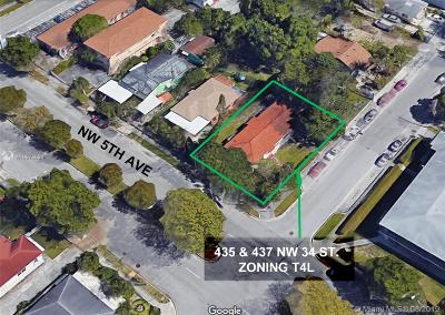 Miami-Dade County Multi Family Home For Sale: 435 NW 34th St