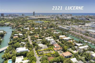 Miami Beach Single Family Home For Sale: 2121 Lucerne Ave