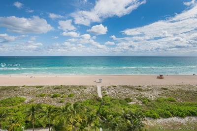 Miami Beach Condo For Sale: 5801 Collins Ave #1000