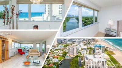 Fort Lauderdale Condo For Sale: 3000 Holiday Dr #1003