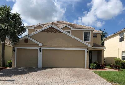 Royal Palm Beach Single Family Home For Sale: 349 Berenger Walk