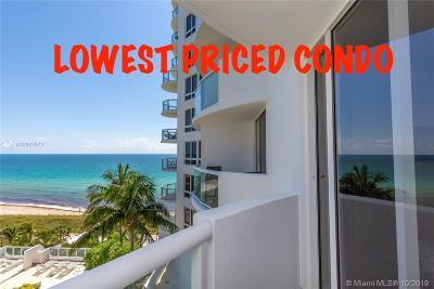 Miami Beach Condo For Sale: 6365 Collins Ave #1010