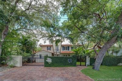 Coconut Grove Single Family Home For Sale: 3786 Kent Ct