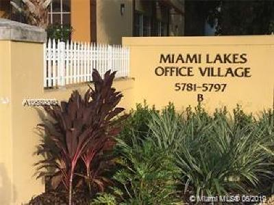 Miami Lakes Commercial For Sale: 5791 NW 151 #5791-A