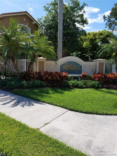 Cutler Bay Condo For Sale: 8528 SW 214th Way