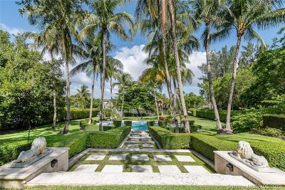 Coral Gables FL Single Family Home For Sale: $6,900,000