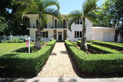 Coral Gables Single Family Home For Sale: 1200 S Greenway Dr