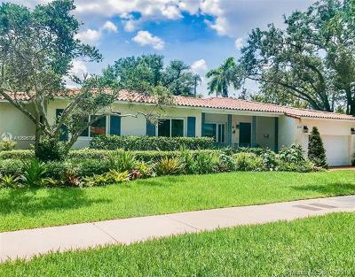 Coral Gables Single Family Home For Sale: 6018 San Vicente St