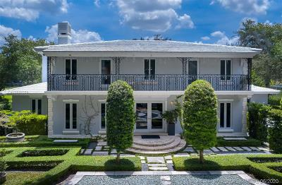 Coral Gables FL Single Family Home For Sale: $4,750,000