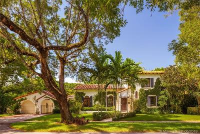 Coral Gables Single Family Home For Sale: 1319 Castile Ave