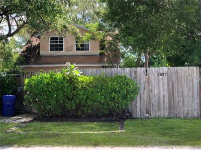 Coconut Grove Single Family Home For Sale: 3077 McDonald Street