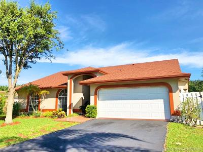 Coral Springs Single Family Home For Sale: 5358 NW 99 Ln