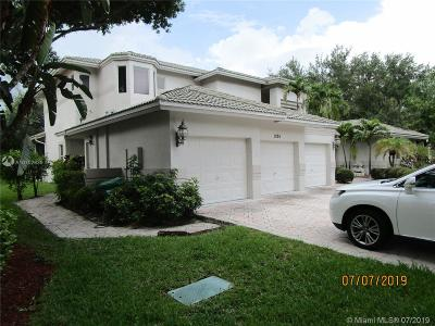 Coral Springs Single Family Home For Sale: 1025 NW 121st Ln