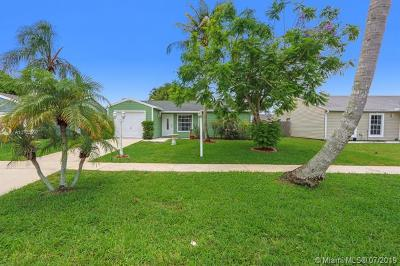 Lake Worth Single Family Home Active With Contract: 5283 W Canal Cir W