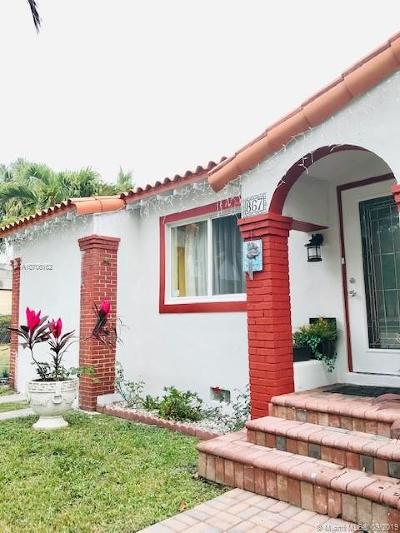 Miami Single Family Home For Sale: 867 NW 17th Pl