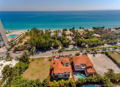 Golden Beach Single Family Home For Sale: 674 Ocean Blvd