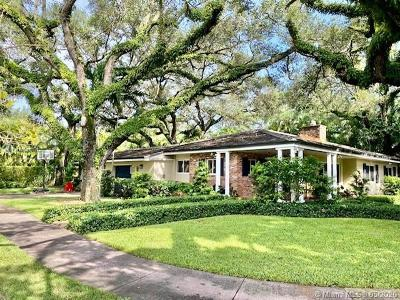 Coral Gables, South Miami Single Family Home For Sale