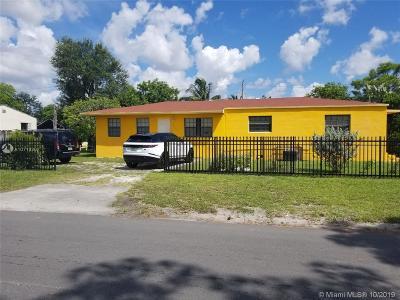 Opa-Locka Single Family Home For Sale: 956 Ahmad St