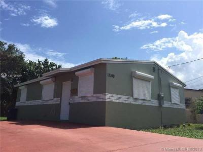 North Miami Single Family Home For Sale: 15100 NE 14th Ct