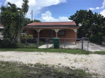Opa-Locka Single Family Home For Sale: 845 Codadad St