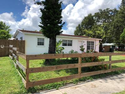 Miami FL Single Family Home For Sale: $308,000