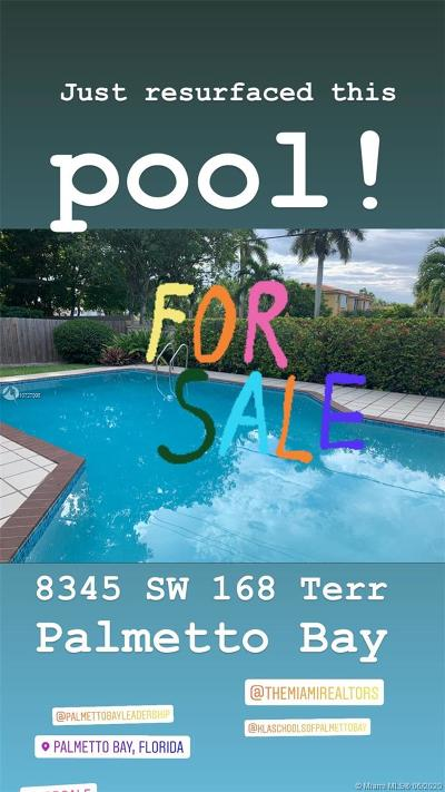 Palmetto Bay Single Family Home For Sale: 8345 SW 168th Ter