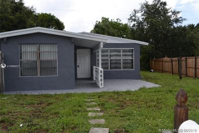 Hollywood Single Family Home For Sale: 6601 Lincoln Street