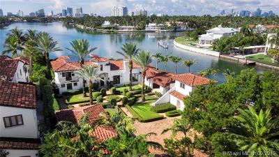 Miami Beach FL Single Family Home For Sale: $14,900,000