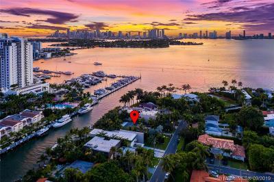 Miami Beach FL Single Family Home For Sale: $3,995,000
