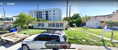 North Miami Beach Single Family Home For Sale: 2490 NE 135th Ter