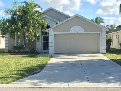 Jensen Beach Single Family Home For Sale: 736 NW Waterlily