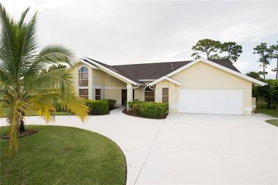 Port Saint Lucie Single Family Home For Sale: 129 NE Naranja