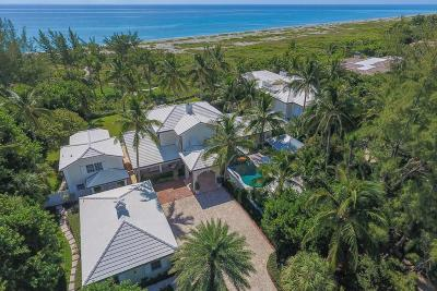 Hobe Sound Single Family Home For Sale: 489 S Beach