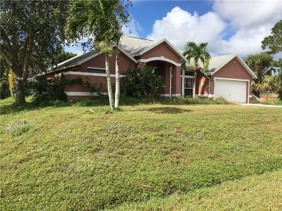 Port Saint Lucie Single Family Home For Sale: 2448 SE Allen