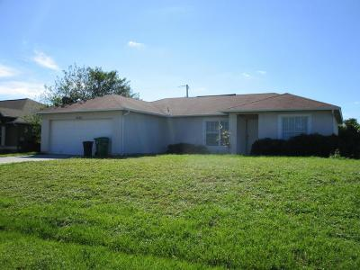 Port Saint Lucie Single Family Home For Sale: 4232 SW Jared