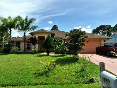 Port Saint Lucie Single Family Home For Sale: 1850 SW Millikin