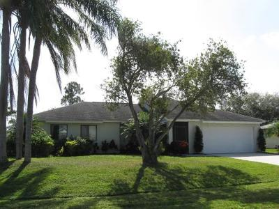 Port Saint Lucie Single Family Home For Sale: 974 SE Browning