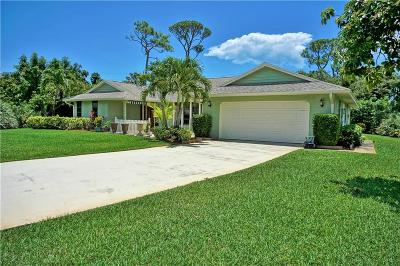Jensen Beach Single Family Home For Sale: 2143 NE Marlberry Lane