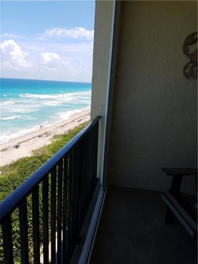 Stuart, Jensen Beach, Hutchinson Island Condo/Townhouse For Sale: 7430 S Ocean Drive