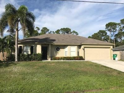 Saint Lucie County Single Family Home For Sale: 1873 SW Penrose Avenue