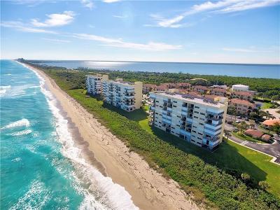 Stuart, Jensen Beach, Hutchinson Island Condo/Townhouse For Sale: 7410 S Ocean Drive
