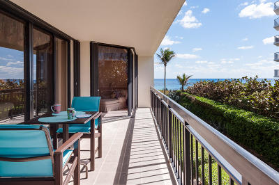 Palm Beach Condo For Sale: 3140 S Ocean Boulevard #202 S