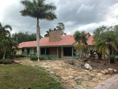 Loxahatchee Single Family Home For Sale: 12875 Bryan Road