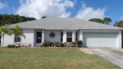 Port Saint Lucie FL Single Family Home Closed: $144,900