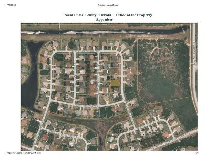 Port Saint Lucie FL Residential Lots & Land Closed: $27,000