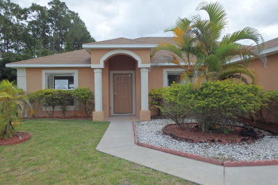 Port Saint Lucie FL Single Family Home Sold: $179,900