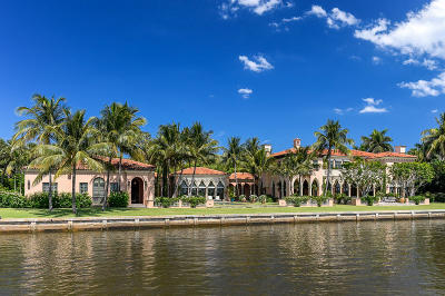 Palm Beach Single Family Home For Sale: 1485 S Ocean Boulevard