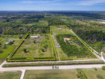 Loxahatchee Groves Single Family Home For Sale: 2269/2379 B Road