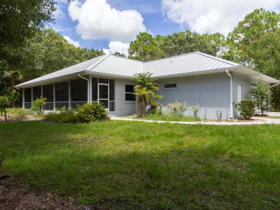 Fort Pierce Single Family Home For Sale: 6421 S Header Canal Road