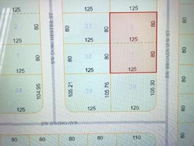 Residential Lots & Land Sold: 1190 SW Broadview Street